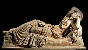 arianna dormiente statua romana dorme