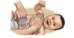 massaggio neonato coliche gassose